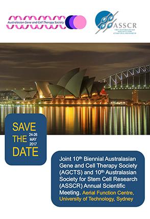 第10回オーストラリア遺伝子細胞治療学会(10th AGCTS & ASSCR Meeting)